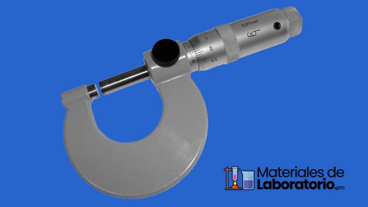 tornillo micrometrico de laboratorio