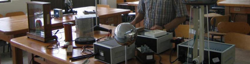 Materiales utilizados en un laboratorio de física