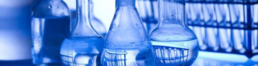 Materiales de vidrio usados un en laboratorio